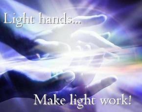light hands make light work